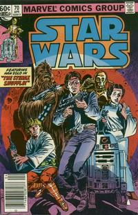 Cover Thumbnail for Star Wars (Marvel, 1977 series) #70 [Newsstand  Edition]
