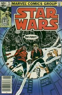 Cover Thumbnail for Star Wars (Marvel, 1977 series) #72 [Newsstand]