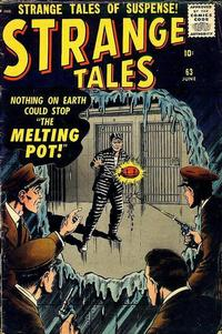 Cover for Strange Tales (Marvel, 1951 series) #63