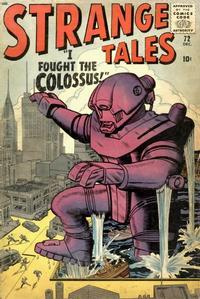 Cover Thumbnail for Strange Tales (Marvel, 1951 series) #72