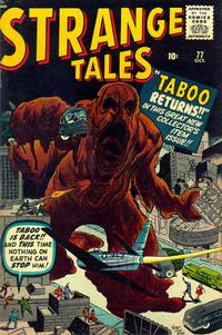 Cover for Strange Tales (Marvel, 1951 series) #77