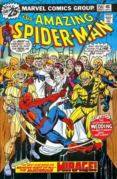 Cover for The Amazing Spider-Man (Marvel, 1963 series) #156 [25¢ Cover Price]