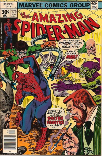 Cover for The Amazing Spider-Man (Marvel, 1963 series) #170 [30¢ Cover Price]