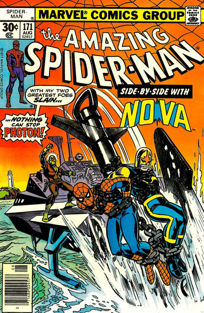 Cover for The Amazing Spider-Man (Marvel, 1963 series) #171 [30¢ cover price]
