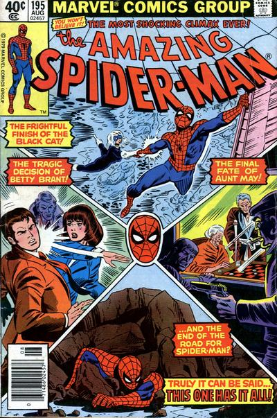 Cover for The Amazing Spider-Man (Marvel, 1963 series) #195 [Direct Edition]
