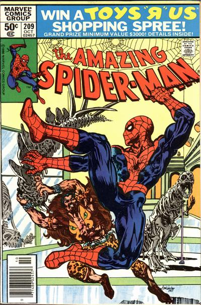 Cover for The Amazing Spider-Man (Marvel, 1963 series) #209 [Direct Edition]