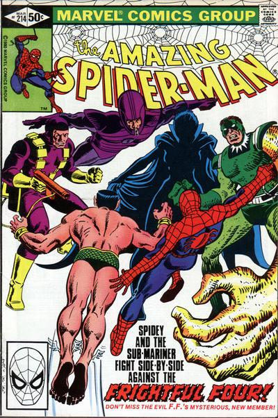 Cover for The Amazing Spider-Man (Marvel, 1963 series) #214 [Direct Edition]