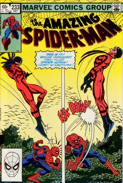 Cover for The Amazing Spider-Man (Marvel, 1963 series) #233 [Direct]
