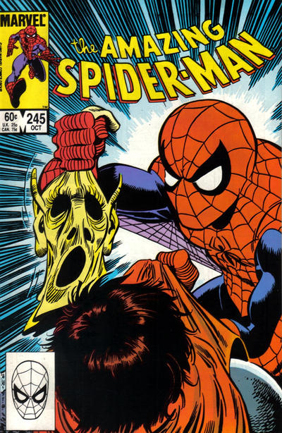 Cover for The Amazing Spider-Man (Marvel, 1963 series) #245 [Direct Edition]