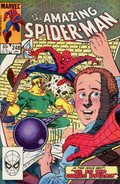 Cover for The Amazing Spider-Man (Marvel, 1963 series) #248 [Direct Edition]
