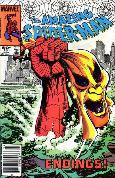 Cover for The Amazing Spider-Man (Marvel, 1963 series) #251 [Newsstand Edition]