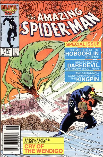 Cover for The Amazing Spider-Man (Marvel, 1963 series) #277 [Direct Edition]