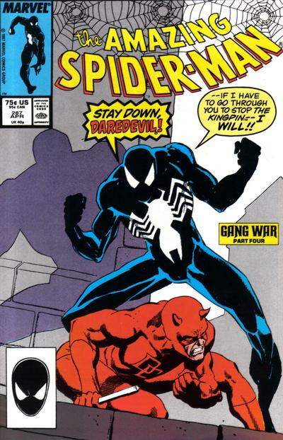 Cover for The Amazing Spider-Man (Marvel, 1963 series) #287 [Direct Edition]