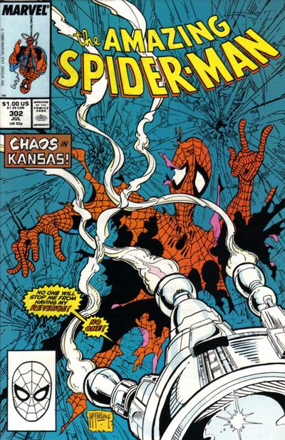 Cover for The Amazing Spider-Man (Marvel, 1963 series) #302 [Direct Edition]