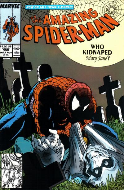 Cover for The Amazing Spider-Man (Marvel, 1963 series) #308 [Direct Edition]