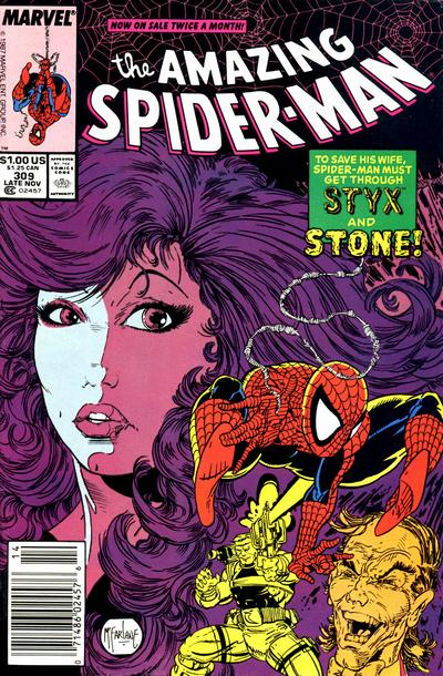 Cover for The Amazing Spider-Man (Marvel, 1963 series) #309 [Direct Edition]