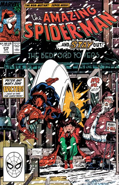 Cover for The Amazing Spider-Man (Marvel, 1963 series) #314 [Newsstand Edition]