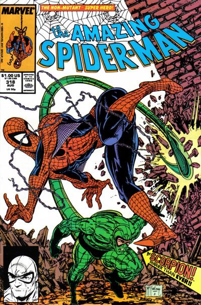 Cover for The Amazing Spider-Man (Marvel, 1963 series) #318 [Newsstand Edition]