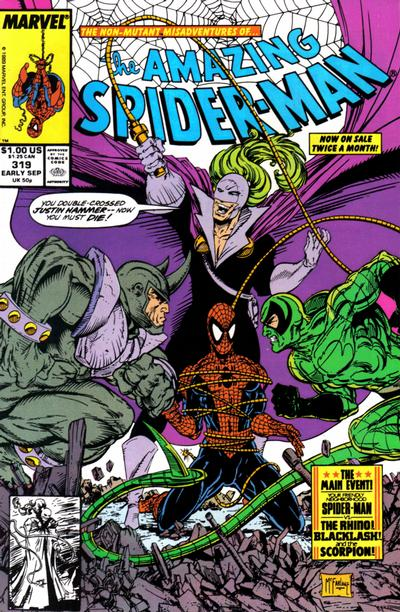 Cover for The Amazing Spider-Man (Marvel, 1963 series) #319 [Direct]