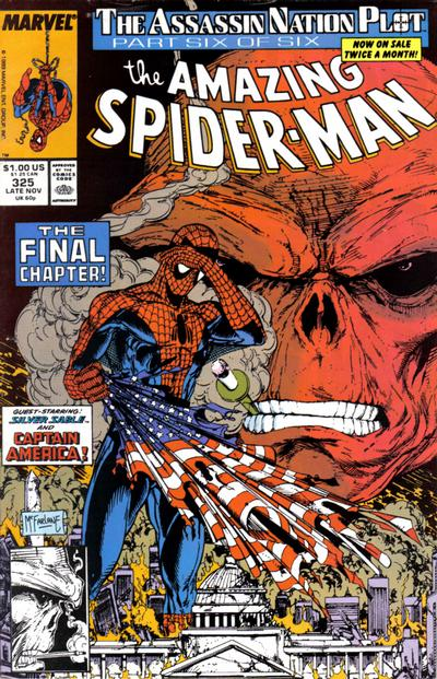 Cover for The Amazing Spider-Man (Marvel, 1963 series) #325 [Direct Edition]