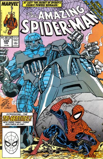 Cover for The Amazing Spider-Man (Marvel, 1963 series) #329 [Direct Edition]