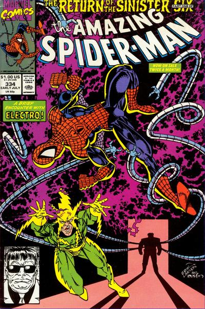 Cover for The Amazing Spider-Man (Marvel, 1963 series) #334 [Direct Edition]