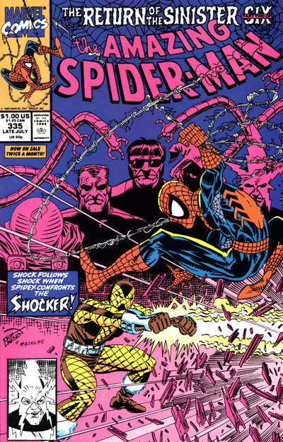 Cover for The Amazing Spider-Man (Marvel, 1963 series) #335 [Direct Edition]