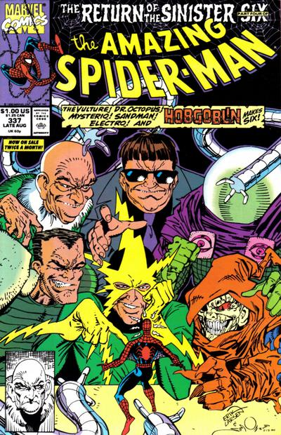 Cover for The Amazing Spider-Man (Marvel, 1963 series) #337 [Newsstand Edition]