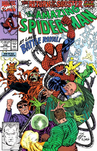 Cover for The Amazing Spider-Man (Marvel, 1963 series) #338 [Direct]