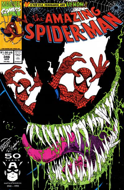 Cover for The Amazing Spider-Man (Marvel, 1963 series) #346 [Direct Edition]