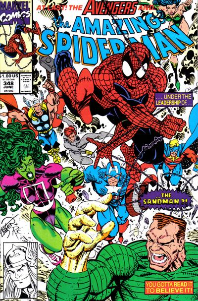 Cover for The Amazing Spider-Man (Marvel, 1963 series) #348 [Direct Edition]
