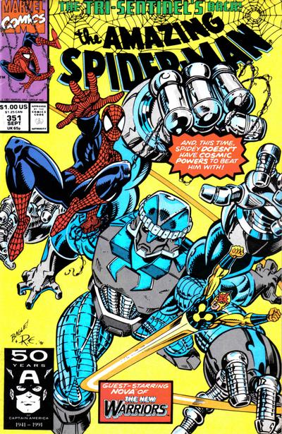 Cover for The Amazing Spider-Man (Marvel, 1963 series) #351 [Newsstand Edition]