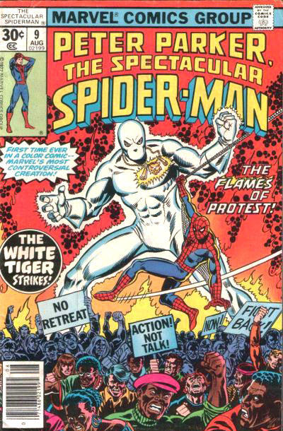 Cover for The Spectacular Spider-Man (Marvel, 1976 series) #9 [35 cent cover price variant]