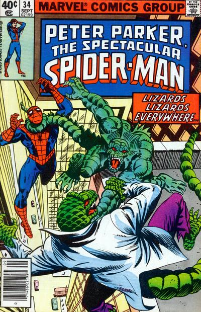 Cover for The Spectacular Spider-Man (Marvel, 1976 series) #34 [Direct Edition]