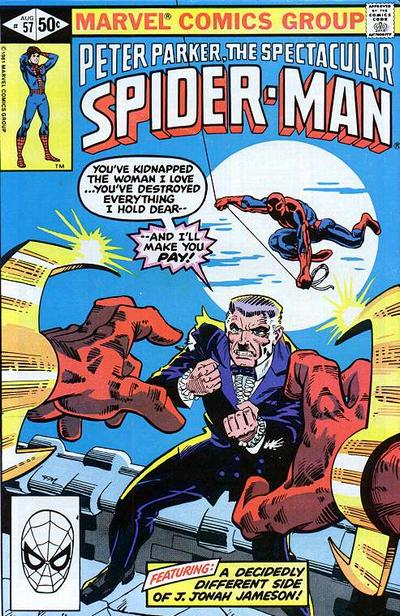 Cover for The Spectacular Spider-Man (Marvel, 1976 series) #57 [newsstand]