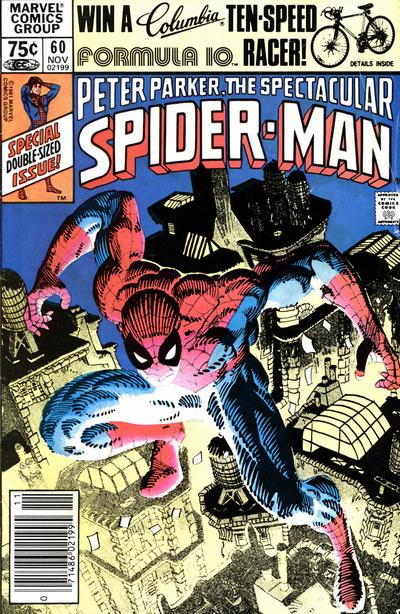 Cover for The Spectacular Spider-Man (Marvel, 1976 series) #60 [Newsstand Edition]