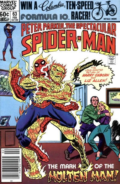 Cover for The Spectacular Spider-Man (Marvel, 1976 series) #63