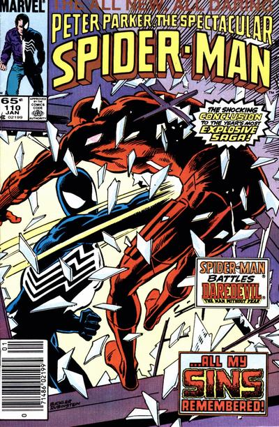 Cover for The Spectacular Spider-Man (Marvel, 1976 series) #110 [direct]