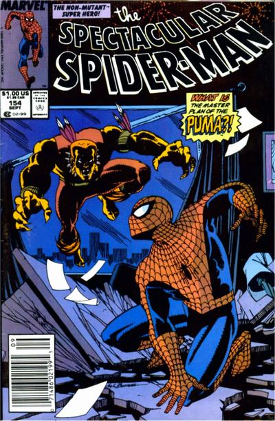Cover for The Spectacular Spider-Man (Marvel, 1976 series) #154 [newsstand]