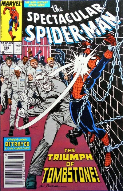 Cover for The Spectacular Spider-Man (Marvel, 1976 series) #155 [newsstand]