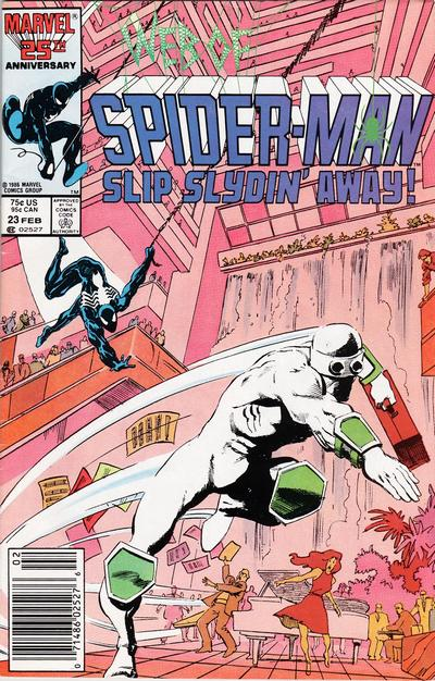 Cover for Web of Spider-Man (Marvel, 1985 series) #23 [Direct Edition]