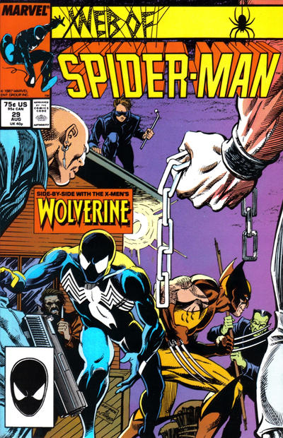 Cover for Web of Spider-Man (Marvel, 1985 series) #29 [Direct Edition]
