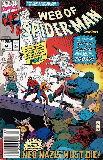 Cover for Web of Spider-Man (Marvel, 1985 series) #72 [Direct]