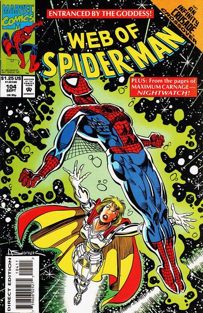 Cover for Web of Spider-Man (Marvel, 1985 series) #104