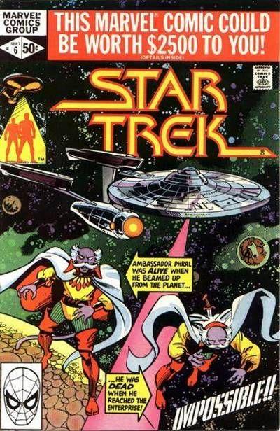 Cover for Star Trek (Marvel, 1980 series) #6 [Direct]