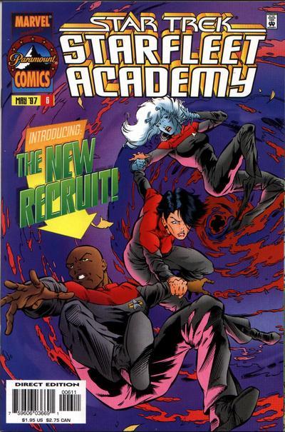 Cover for Star Trek: Starfleet Academy (Marvel, 1996 series) #6 [Direct Edition]