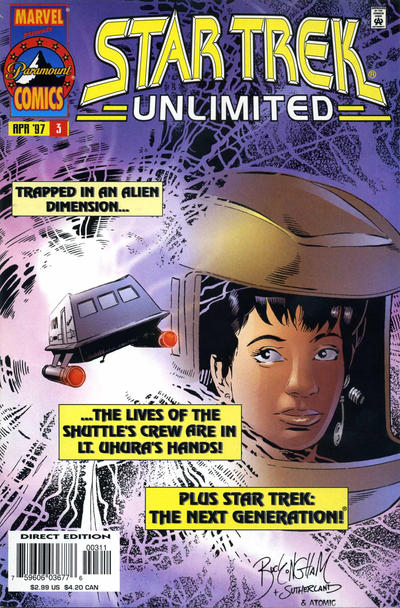 Cover for Star Trek Unlimited (Marvel, 1996 series) #3 [Newsstand Edition]