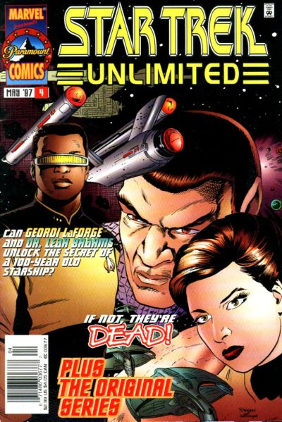 Cover for Star Trek Unlimited (Marvel, 1996 series) #4 [Newsstand Edition]