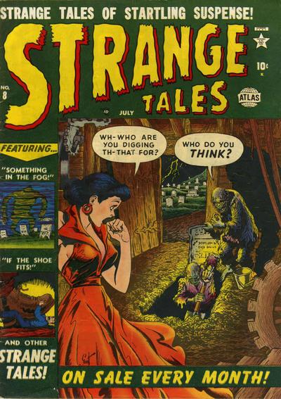 Cover for Strange Tales (Marvel, 1951 series) #8