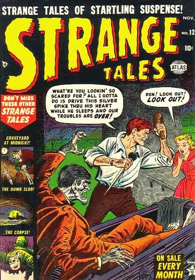 Cover for Strange Tales (Marvel, 1951 series) #12